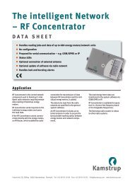 The intelligent Network – RF Concentrator - WWW www.kamstrup.fi