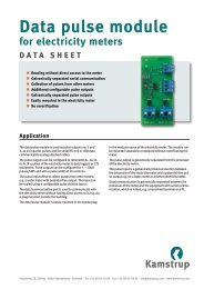 Data pulse module for electricity meters - Kamstrup