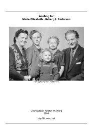 Anebog for Marie Elisabeth Liisberg f. Pedersen - Thorborg ...