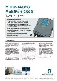 M-Bus Master MultiPort 250D DATA SHEET - Kamstrup