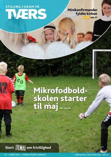 Mikro fodbold - Stilling / Gram på TVÆRS