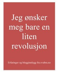 Jeg ønsker meg bare en liten revolusjon