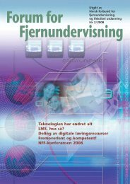 Forum for Fjernundervisning - NFF