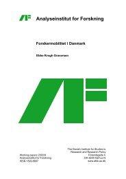 Analyseinstitut for Forskning Forskermobilitet i Danmark