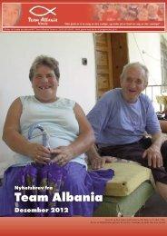 Nytt fra Team Albania desember 2012