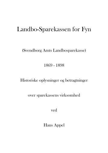 Landbo-Sparekassen for Fyn 1869 - 1898.