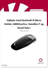 Installasjonsveiledning for Høyttaler bluetooth for Micro Rolltalk - Abilia