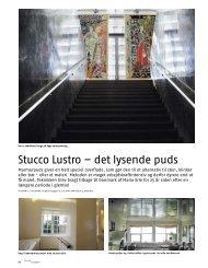 Stucco Lustro - det lysende puds. En speciel teknik og et ... - ampio