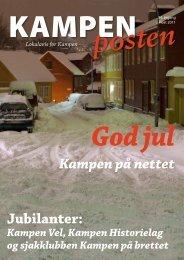 Kampen på nettet Jubilanter: - Kampenposten