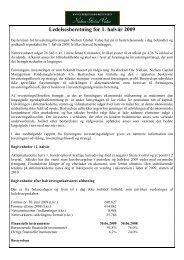 Ledelsesberetning for 1. halvår 2009 - Nielsen - Global Value