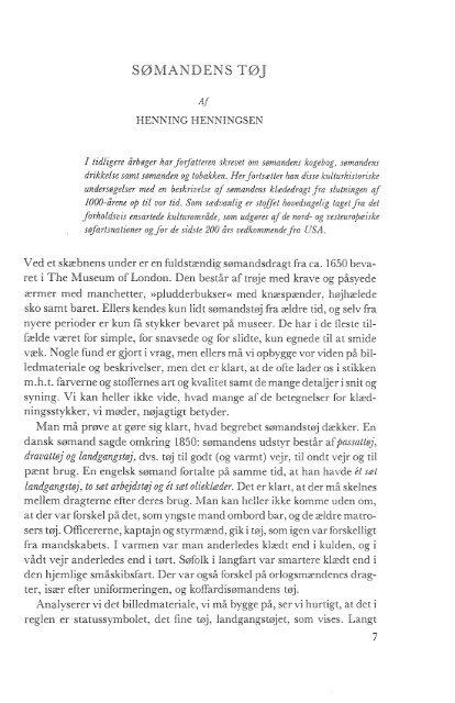 Sømandens tøj, s. 7-64 - Handels- og Søfartsmuseet