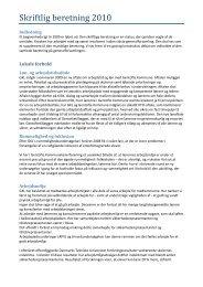 Skriftlig beretning 2010 - Gentofte Kommunelærerforening