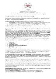Referat 2007 - Danske Venners Klub, Torrevieja