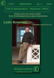 Lars Barfoed - Konservative - Hørsholm