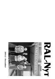 RAL-Nyt 2001:2 – December - Ribe Amts Lokalarkiver