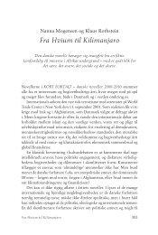 Fra Hvium til Kilimanjaro - Tiderne Skifter