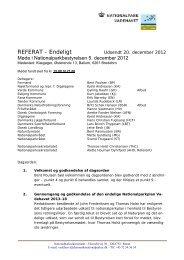 Referat af bestyrelsesmøde - Nationalparker