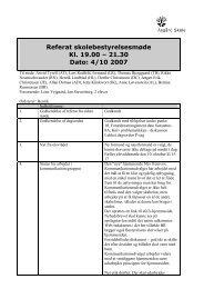 Referat 4 oktober 2007 - Asgård Skole