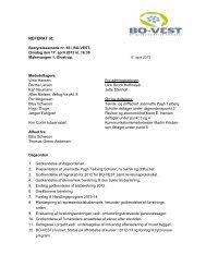 Referat af bestyrelsesmøde den 17. april 2013 - BO-VEST