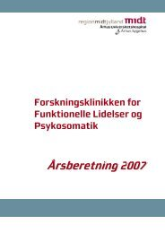 Forskningsklinikken For Funktionelle Lidelser - Aarhus ...