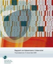 Rapport om Københavns Universitet