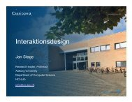 Jan Stage, Aalborg Universitet: Interaktionsdesign - IT-Vest