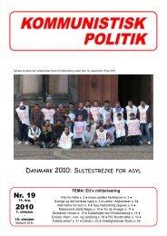 Nr. 19 2010 - Kommunistisk Politik