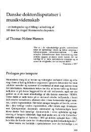 Thomas Holme Hansen Danske doktordisputatser i musikvidenskab