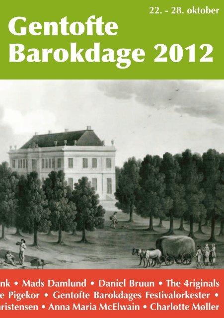 Velkommen til Gentofte Barokdage 2012