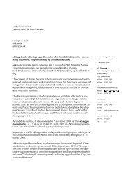 Kandidatuddannelsen i menneskelig - ACE Denmark