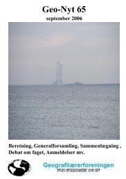 Geo-Nyt 65 - Geografilærerforeningen