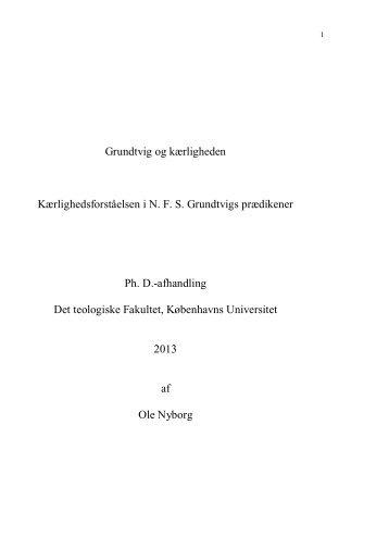 Grundtvig og kærligheden Kærlighedsforståelsen i NFS Grundtvigs ...