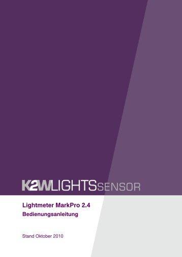 Lightmeter MarkPro 2.4 Bedienungsanleitung - K2W Lights