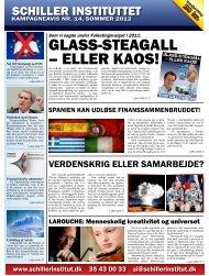 Kampagneavis nr. 14, sommer 2012 - Schiller Instituttet