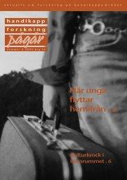 Nummer 2 - Centrum för forskning om funktionshinder - Uppsala ...