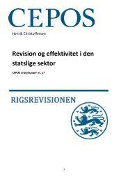 Revision og effektivitet i den statslige sektor - Cepos