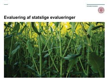 Undersøgelse af statslige evalueringer - Fafo