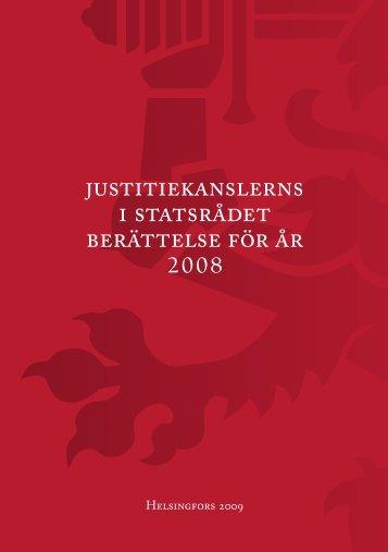 Justitiekanslerns berättelse för år 2008