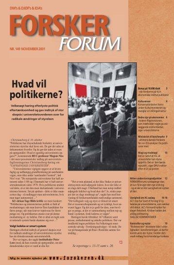 Hvad vil politikerne? - FORSKERforum