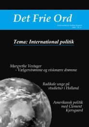 Tema: International politik - Radikal Ungdom