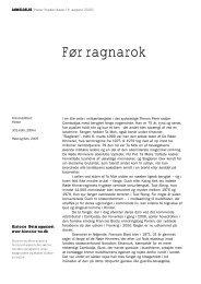 Før ragnarok - Historie-nu.dk