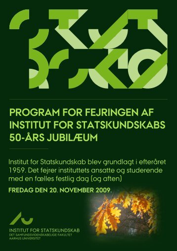 program for fejringen af institut for - Institut for Statskundskab ...
