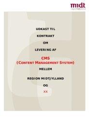 Udkast til kontrakt - Region Midtjylland