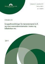 Cirkulære om Gruppelivsordninger - Jordemoderforeningen
