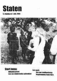 Oktober 2002, årgang 5, nr. 1 - STATEN
