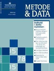 Metode & Data 91 C - DDA Samfund - Dansk Data Arkiv