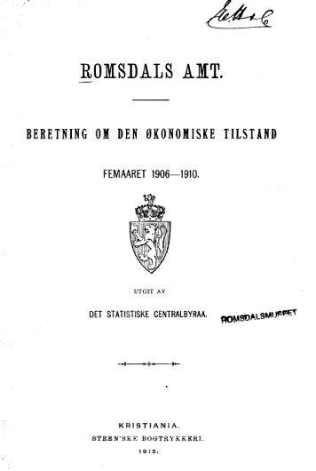 Romsdals Amt 1906-10 - Romsdal Sogelag