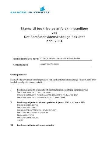 selvangivelse - Det Samfundsvidenskabelige Fakultet - Aalborg ...
