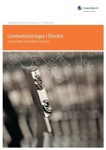 Grænsehindringer i Norden - Nordic Innovation