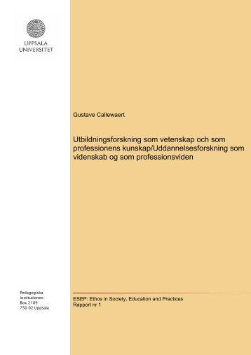 Rapport 1 - Resources - Uppsala universitet
